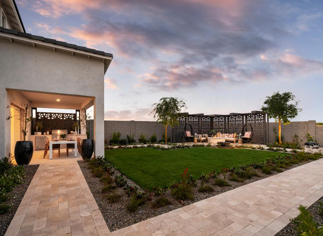 Beautiful backyards with space for outdoor living and entertaining