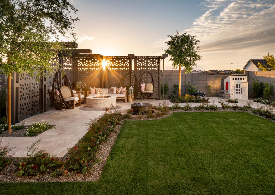 Spacious backyards with ample space for entertaining