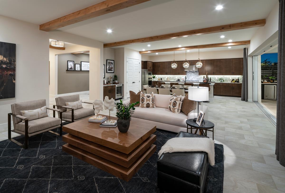 Open concept great rooms ideal for indoor outdoor living