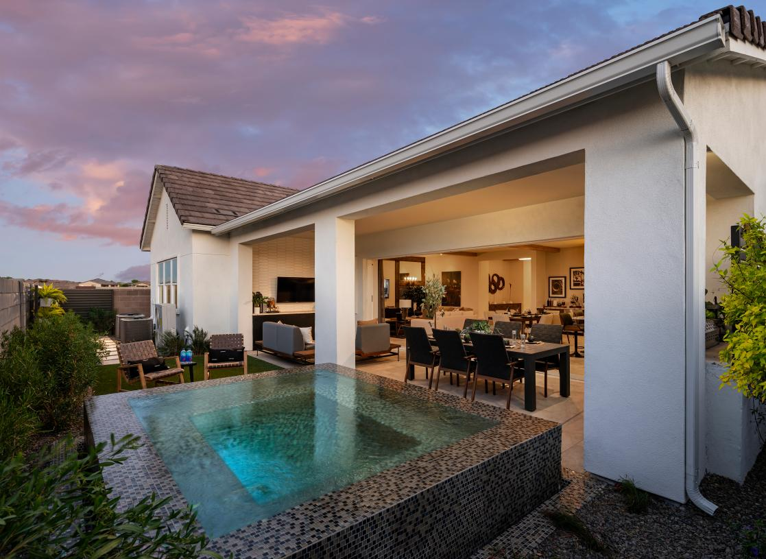 Beautiful backyard designs with pool size home sites