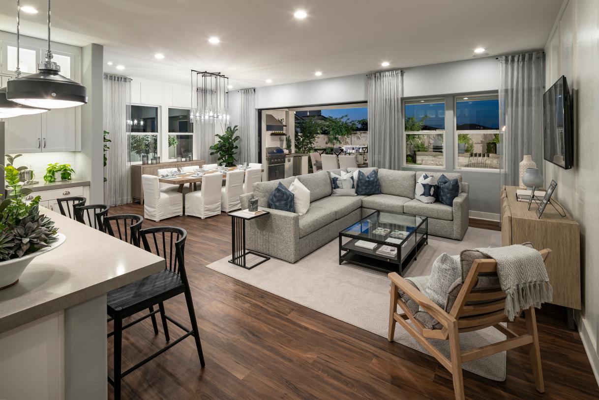 Desirable open concept floor plan ideal for entertaining