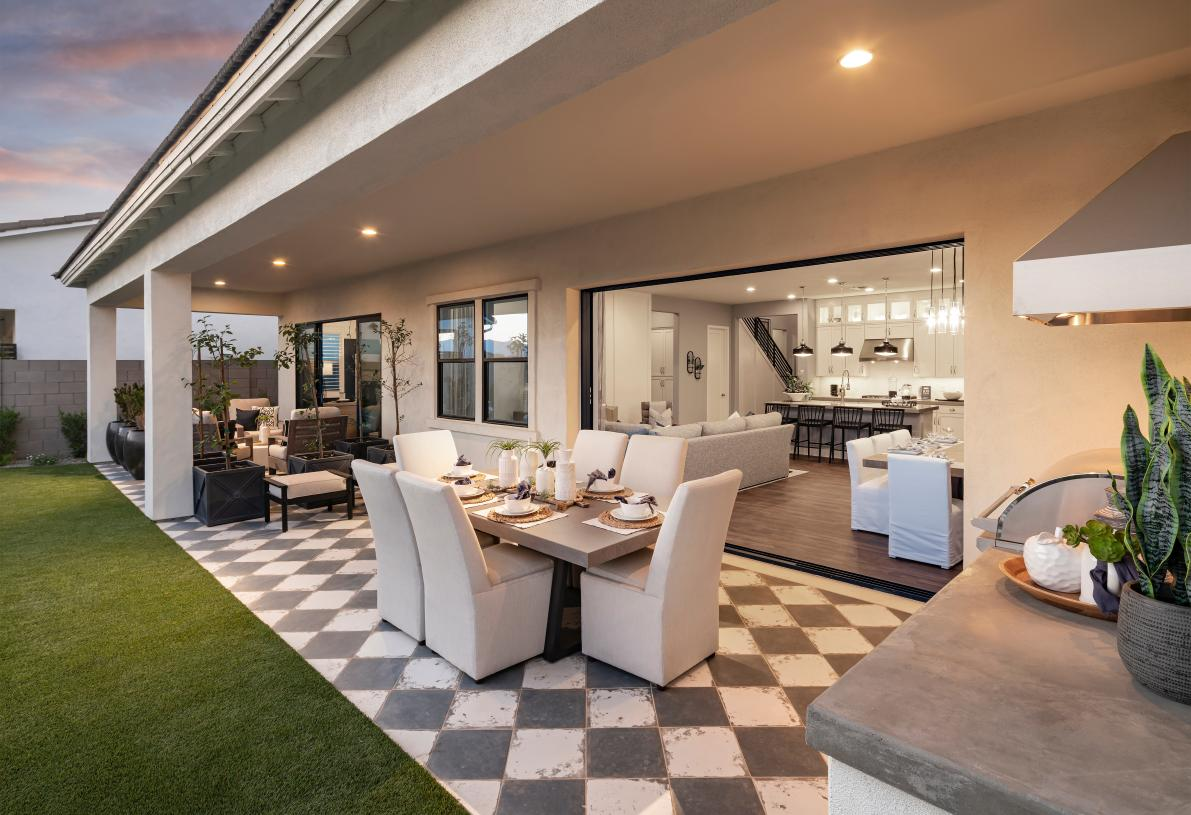 Extended covered patio ideal for outdoor living and entertaining