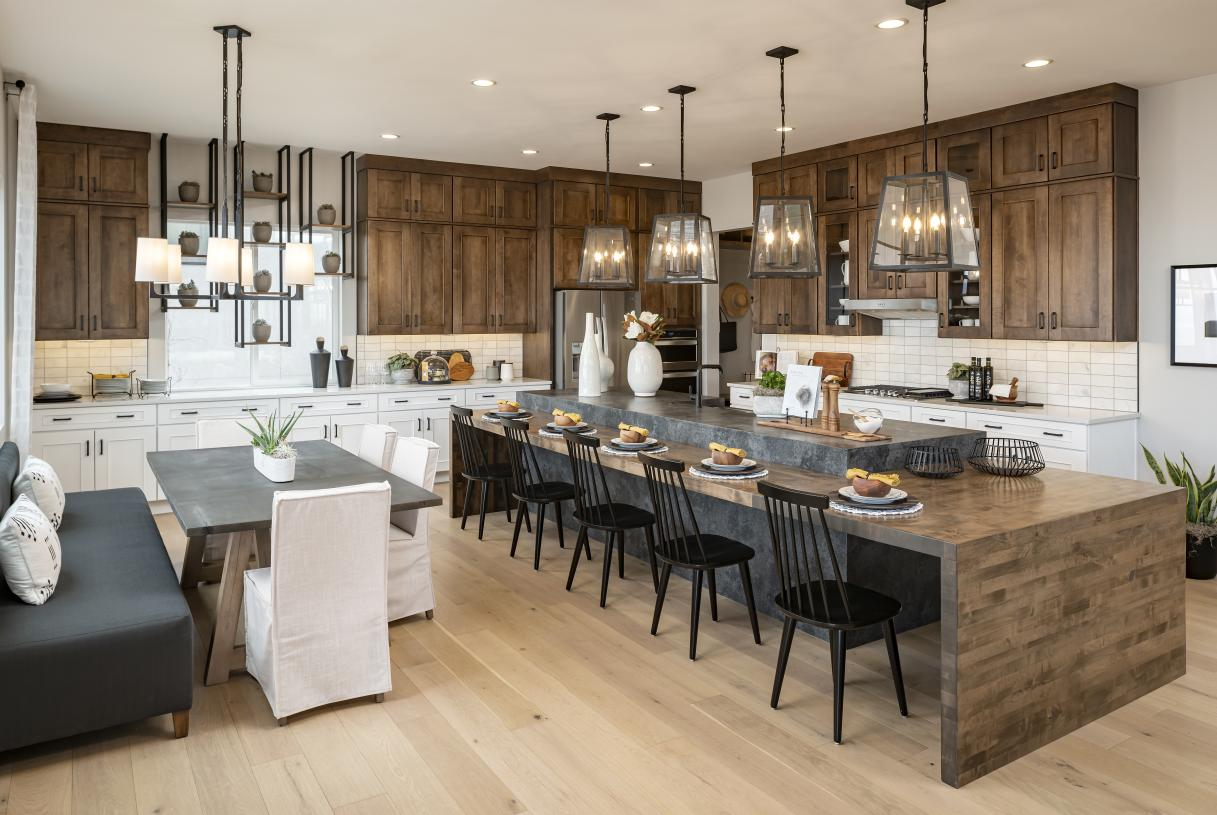 Stunning kitchen designs with ample cabinet space and large center islands