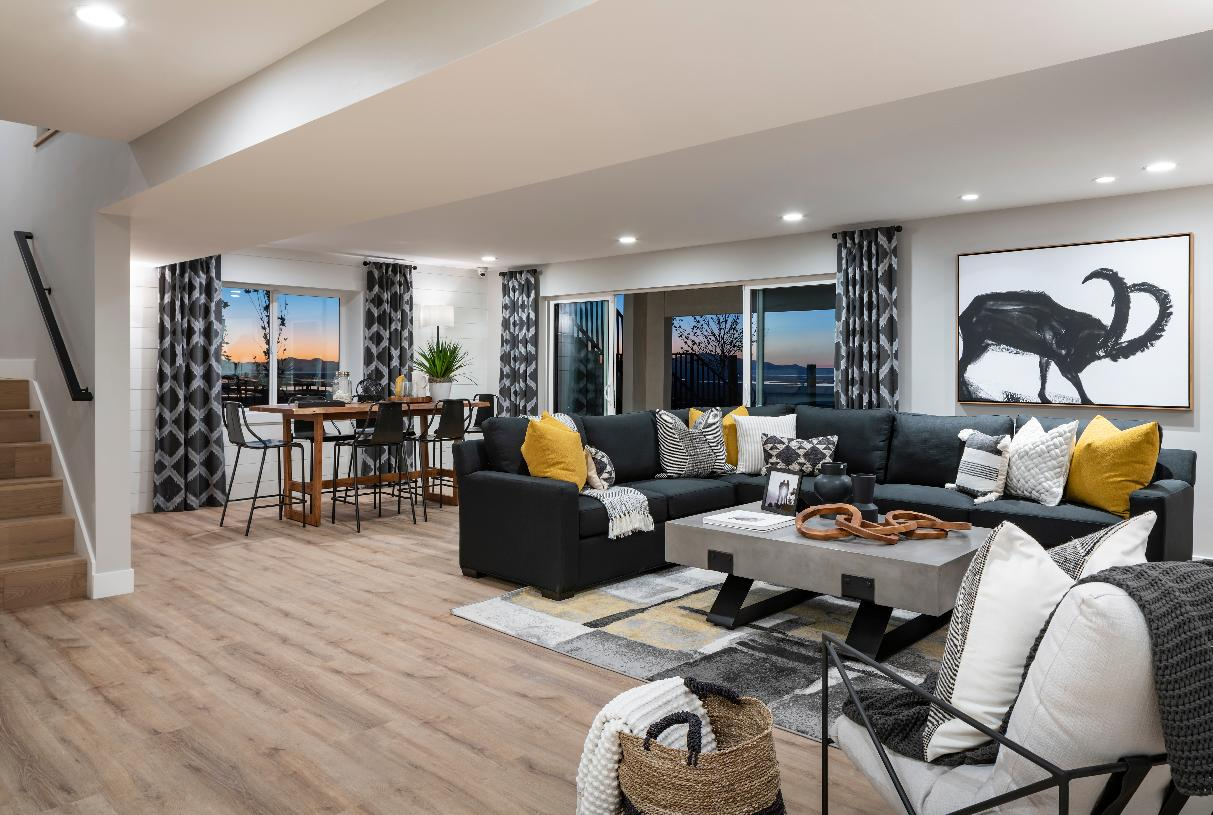 Luxurious finished walk-out basement