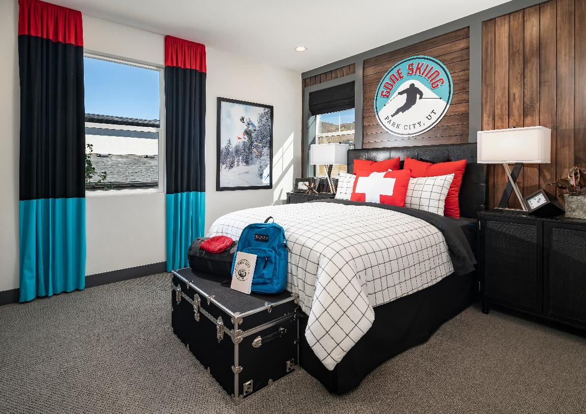 Secondary bedroom with ample closet space
