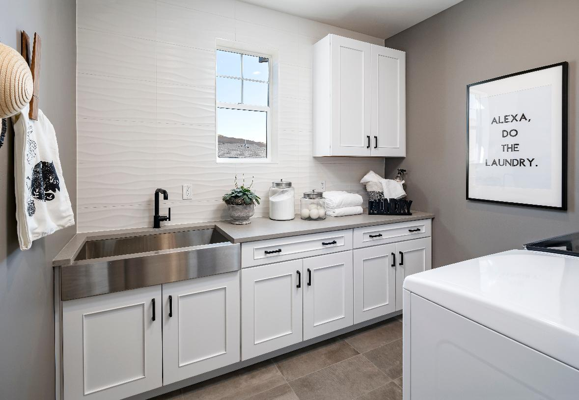 Large centrally located laundry room