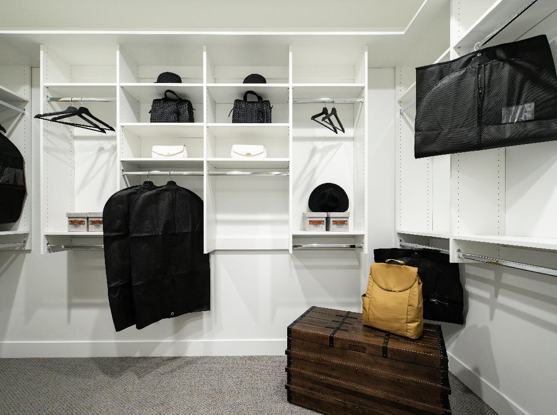 Huge walk-in closet with ample storage