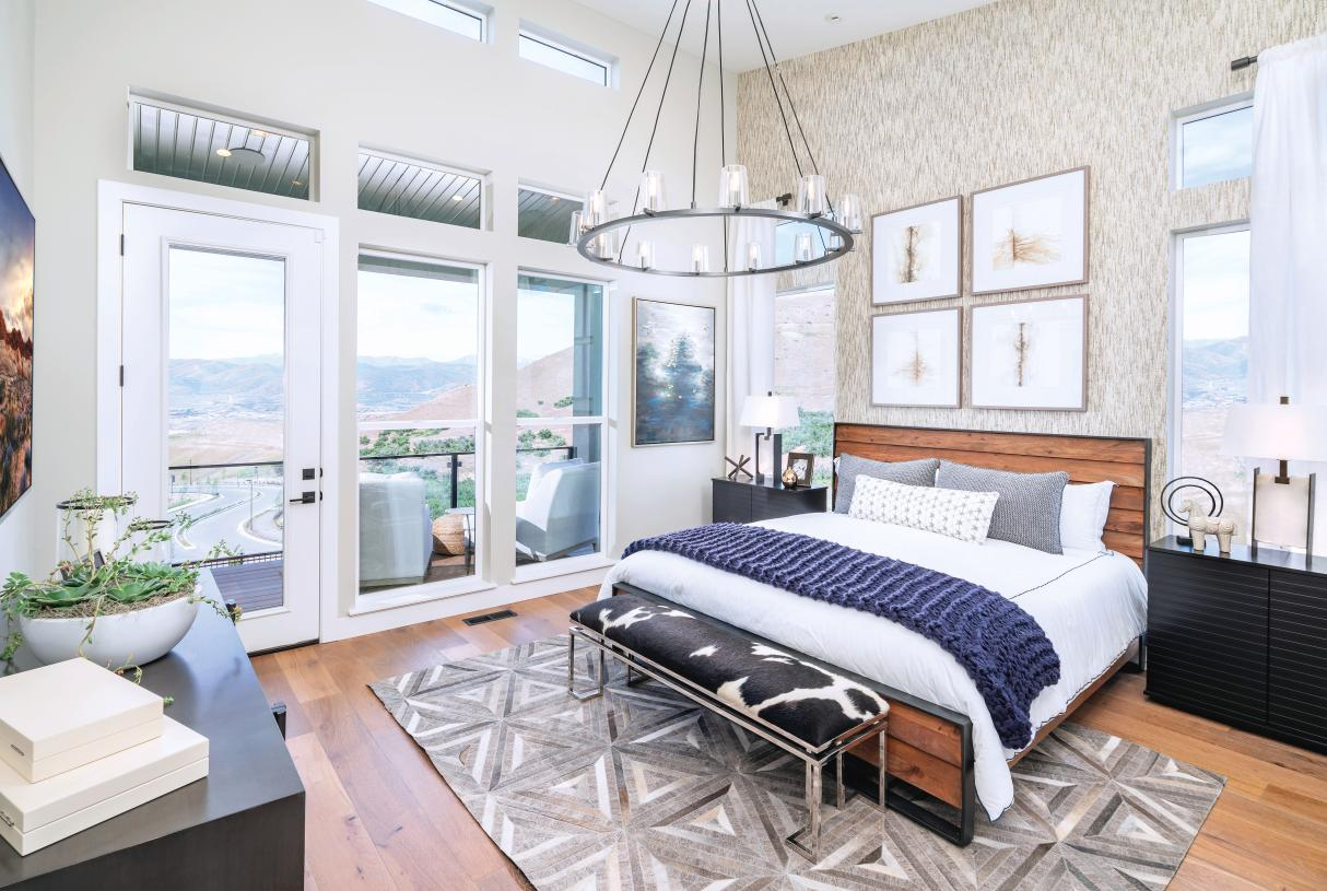 Luxurious primary bedroom suite for relaxation