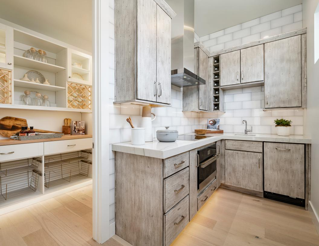 Large walk-in pantries with ample storage