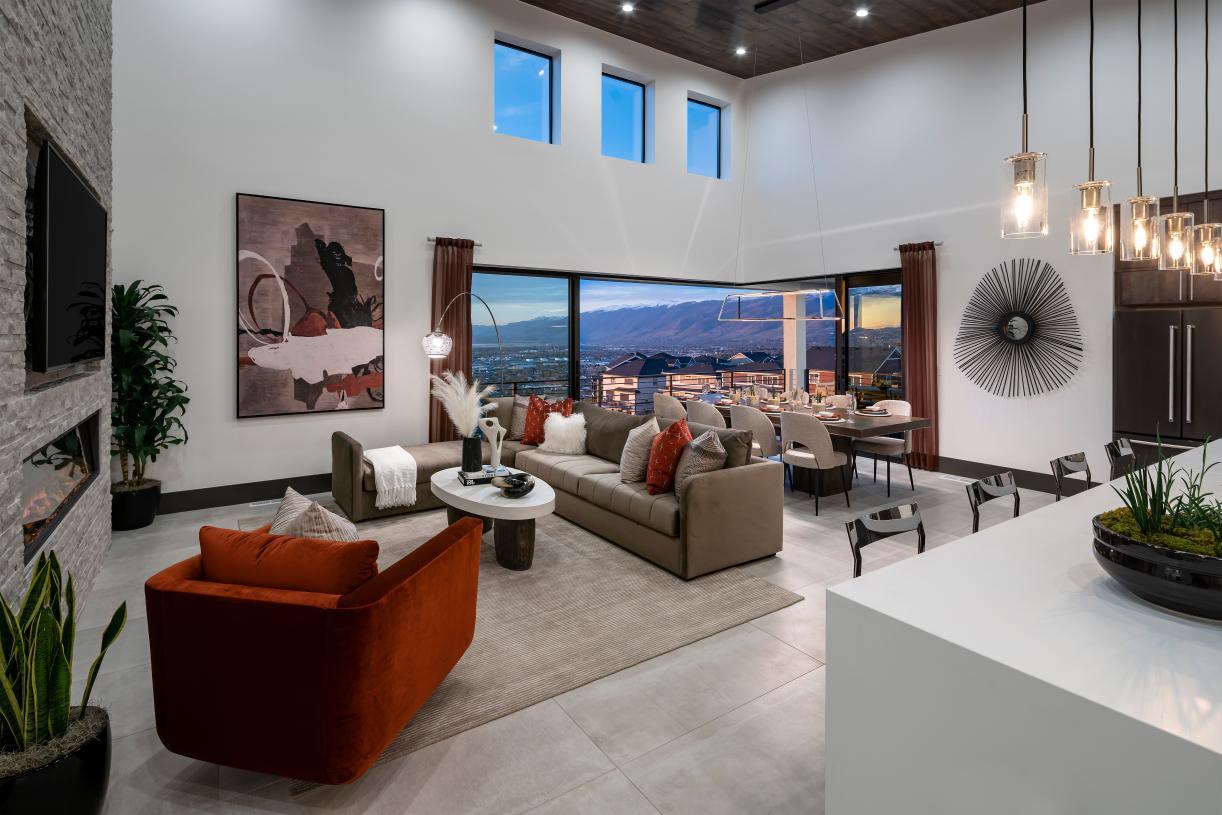 Stunning open concept floor plan ideal for entertaining