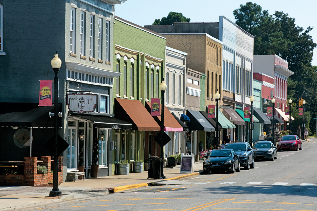 Explore nearby charming Downtown Apex