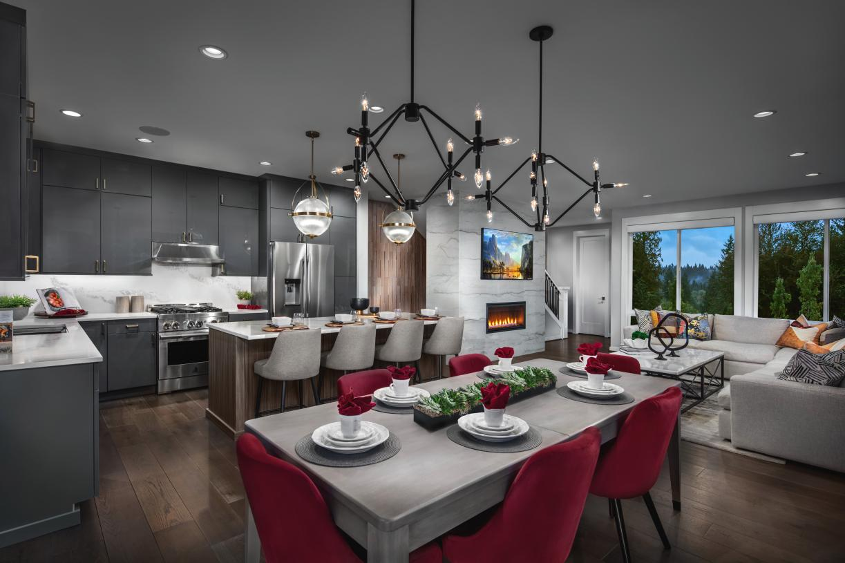 Dining area offers seating for six or more