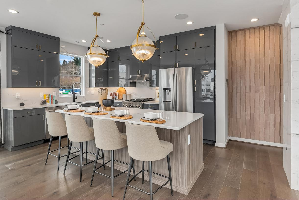 Well designed kitchen offers plenty of countertop space