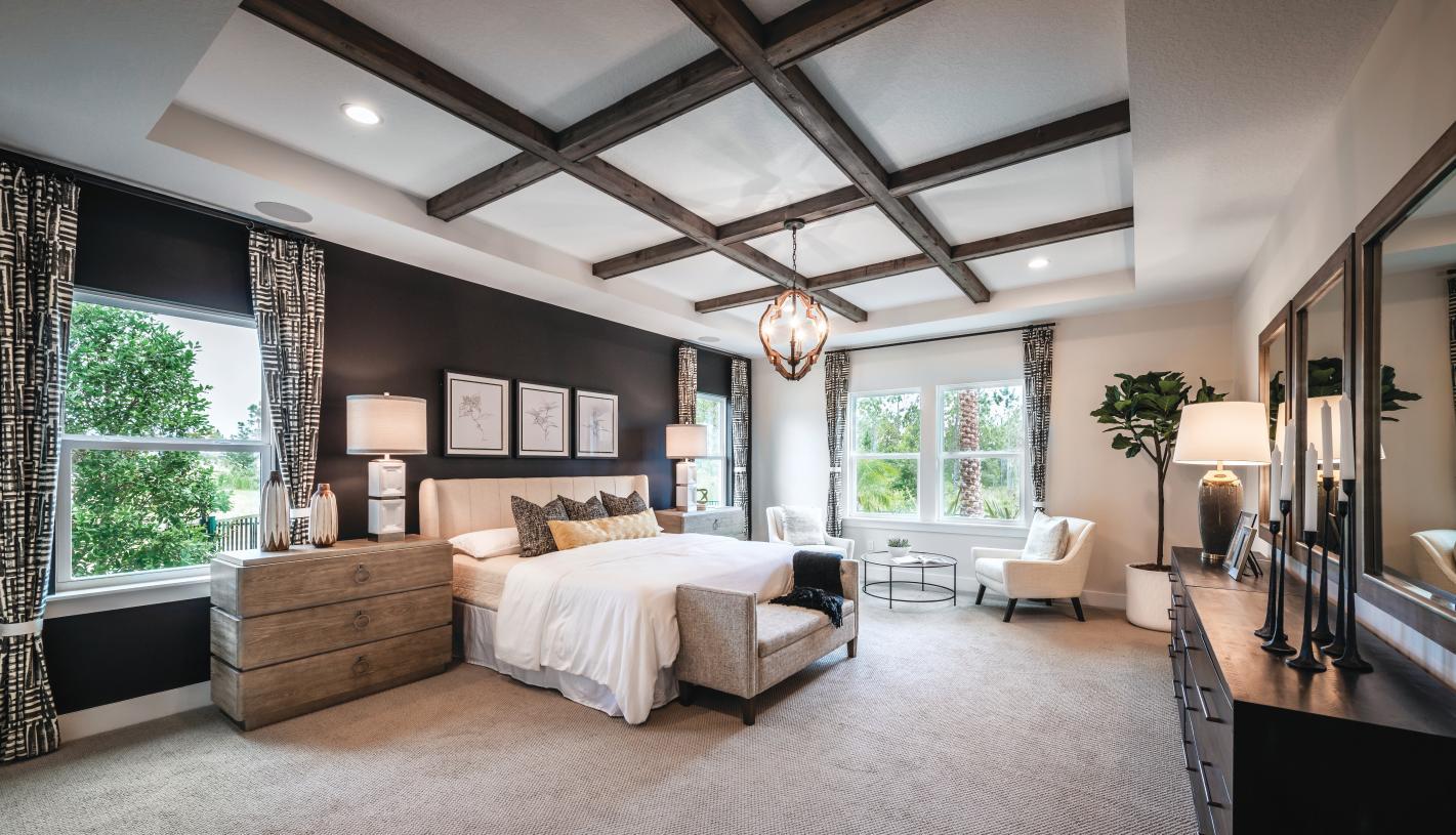 Spacious primary bedroom suites