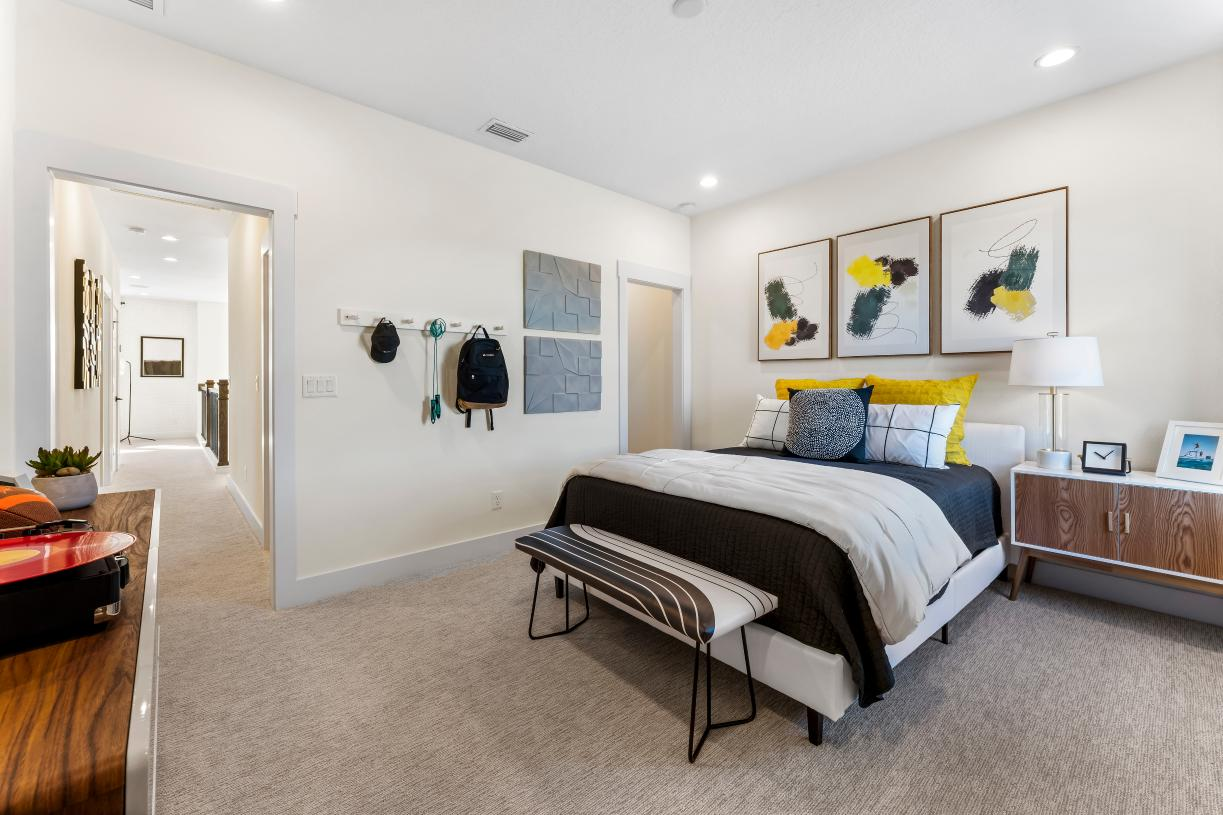 Secondary bedrooms with ample walk-in closet space