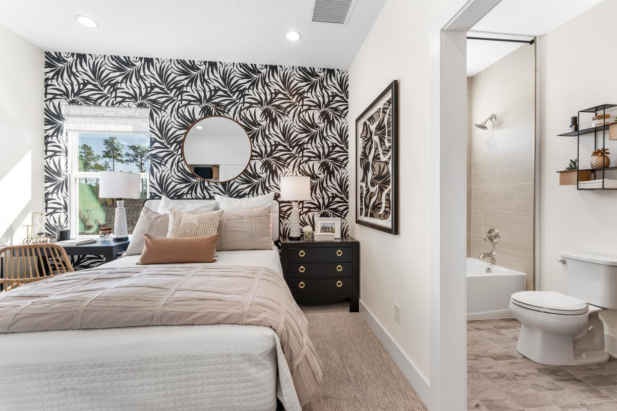 Bedrooms with attached bathrooms