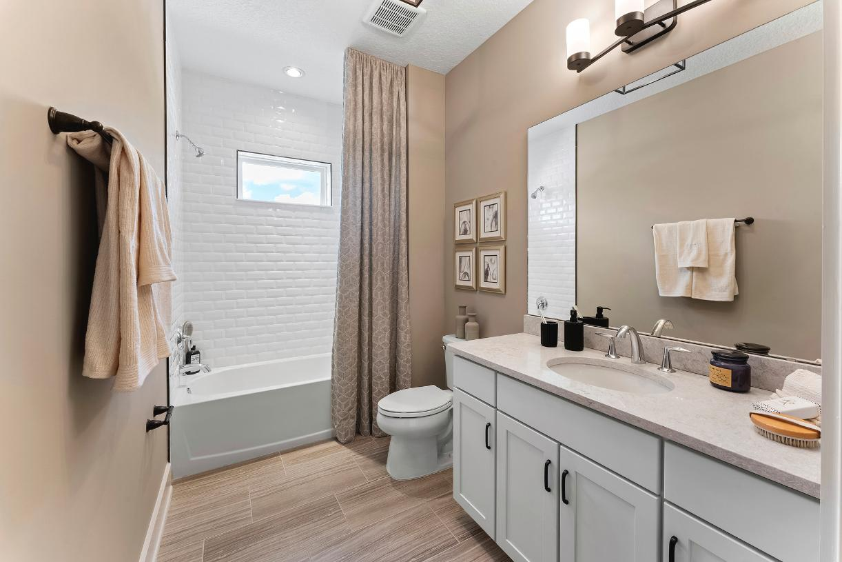 Over-sized secondary bathrooms