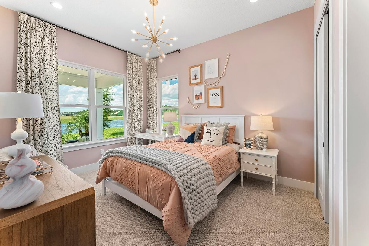Comfortable secondary bedrooms with abundant light
