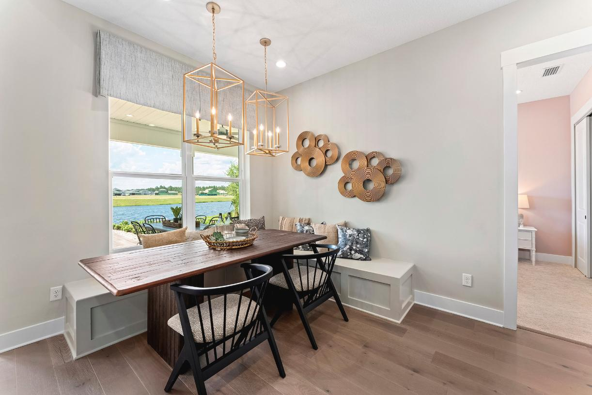 Breakfast areas for additional entertaining