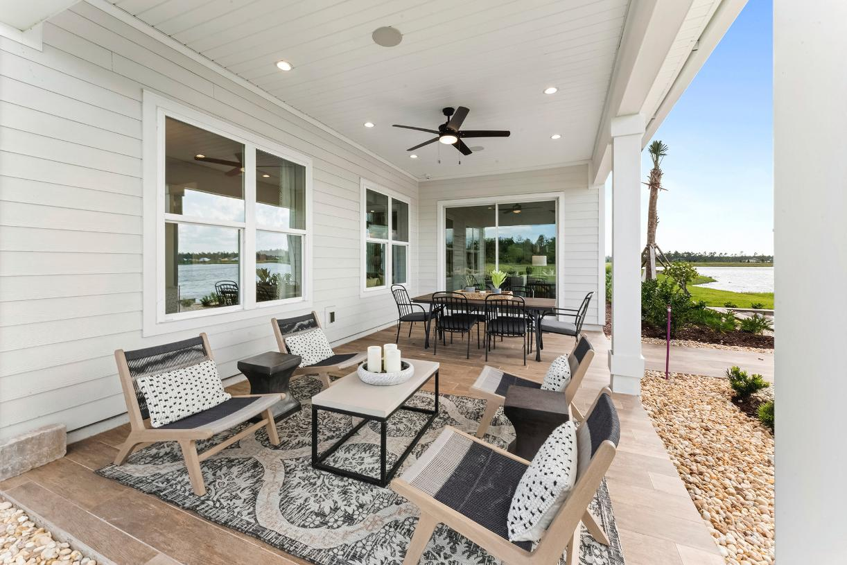 Enjoy quiet time under the covered lanai