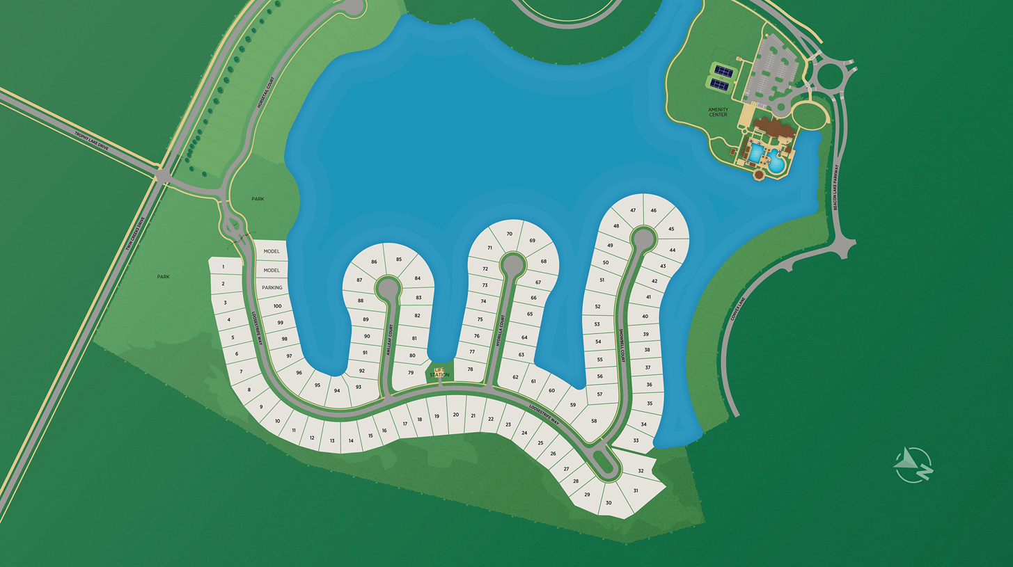 The Landing at Beacon Lake Overall Site Plan