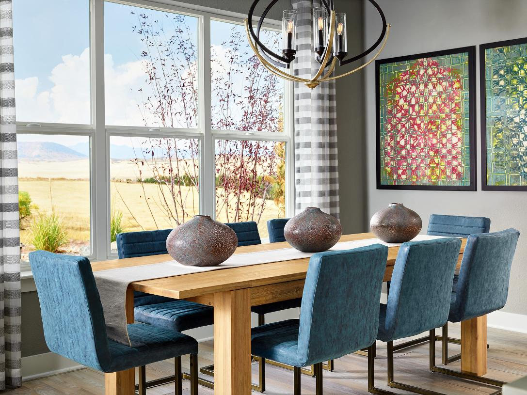 Lathrop dining area with bright natural light