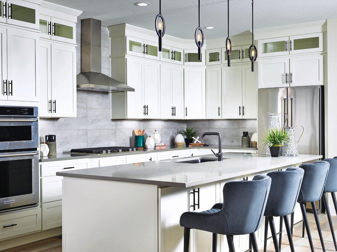 Lathrop kitchen with abundant storage