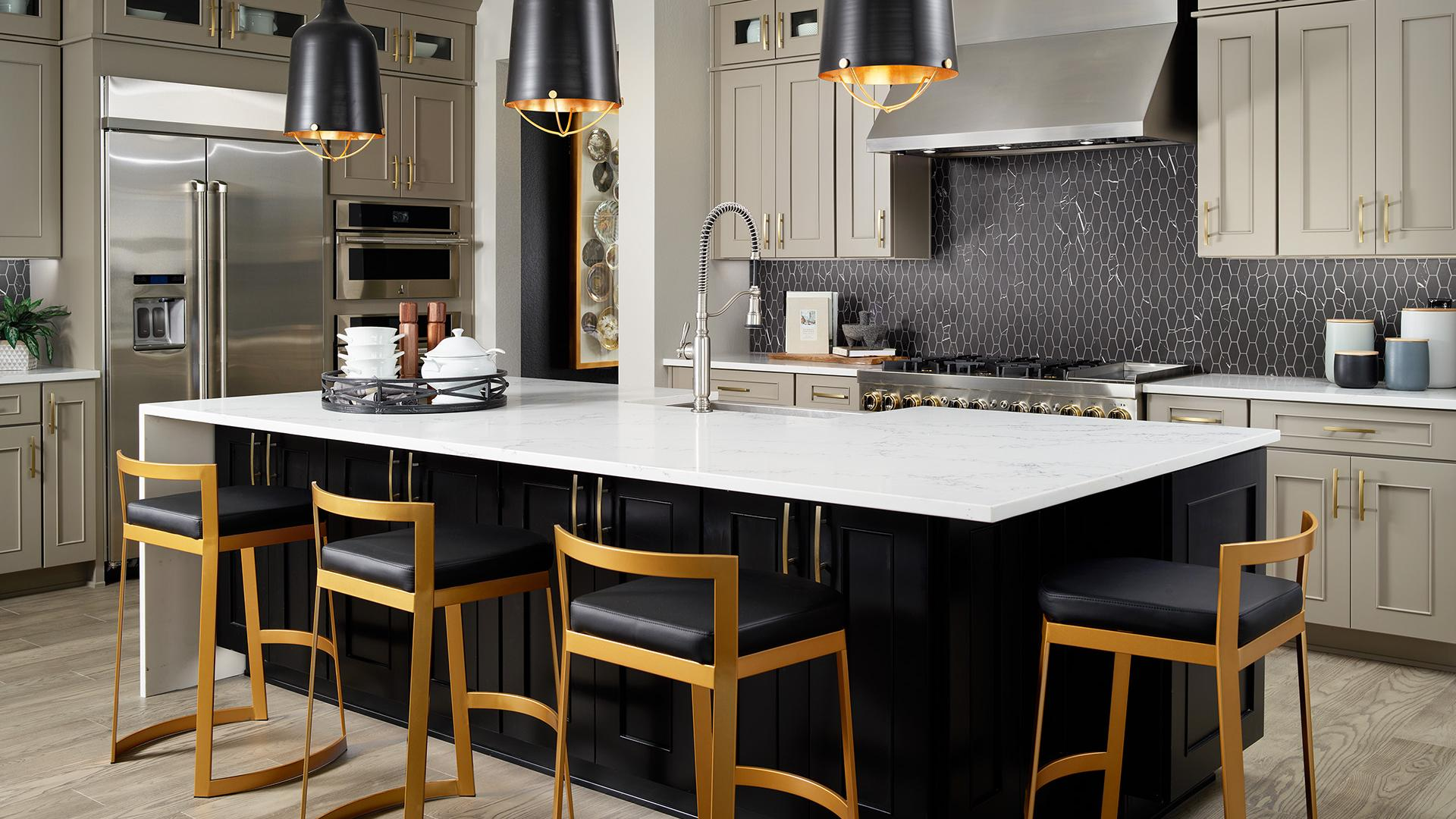 Shavano chef's kitchen with island seating for four