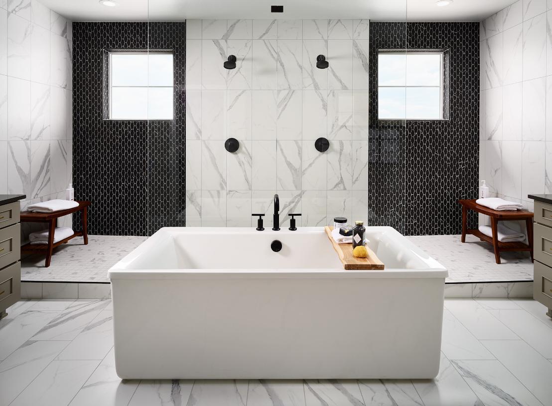 Shavano primary bathroom with freestanding tub
