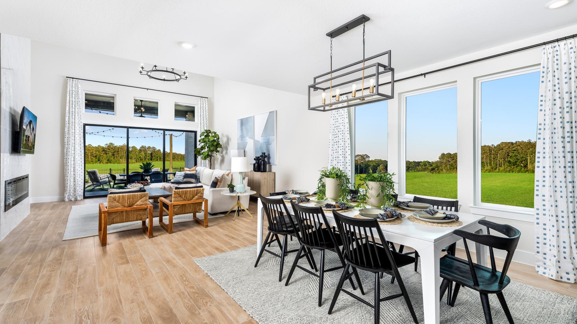 Open concept design ideal for gatherings