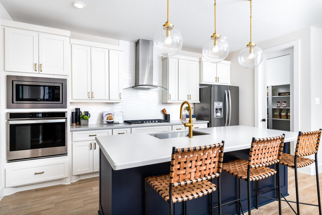 Refreshing kitchen with spacious center island