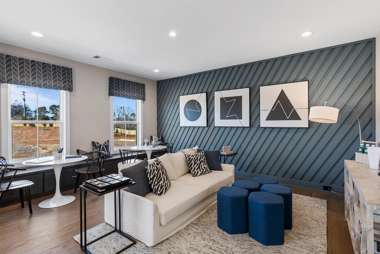 Generous loft provides additional room for entertaining