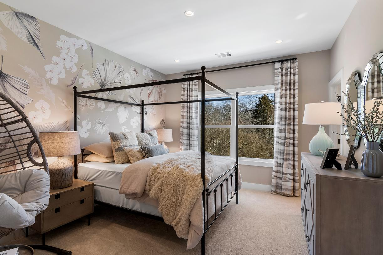 Sizable secondary bedrooms feature ample closets