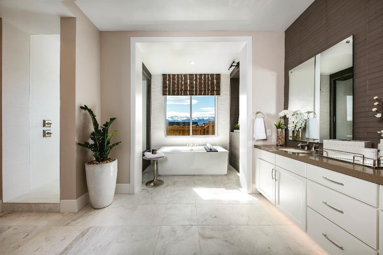 Luxurious primary bathroom