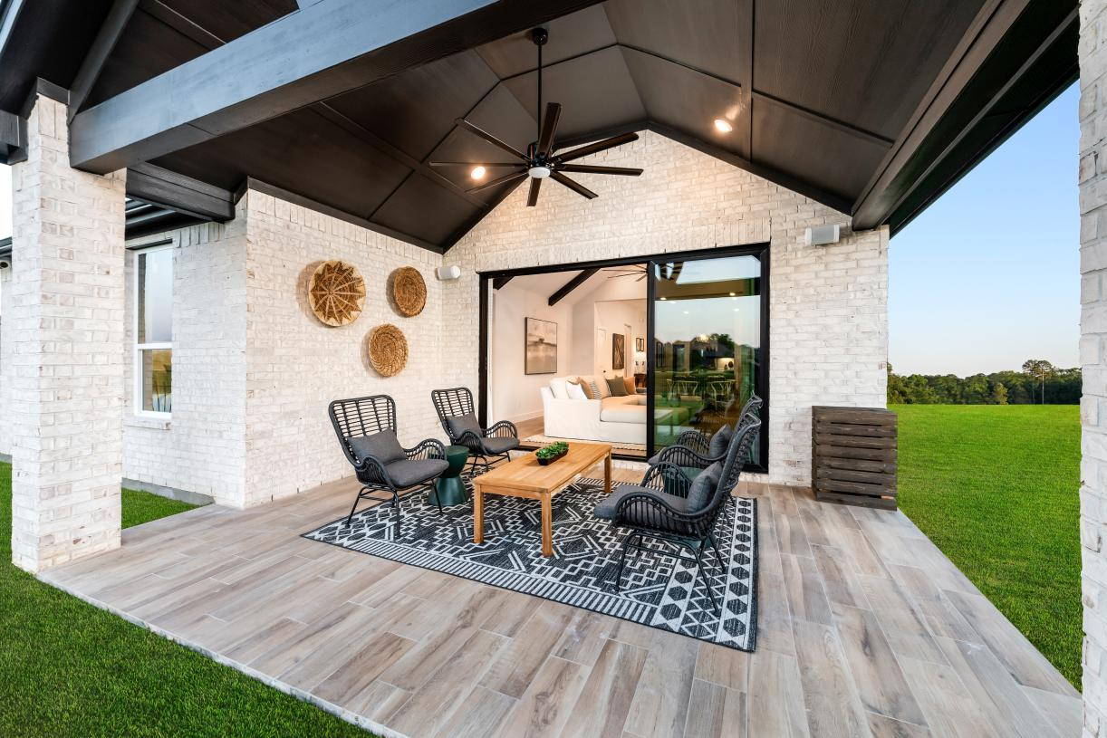 The extended patio is ready for any seasonal grilling