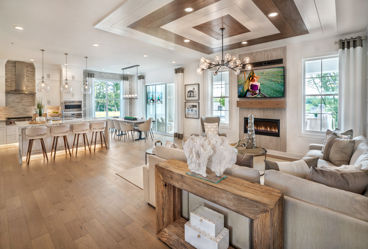 Spacious, open-concept floor plans