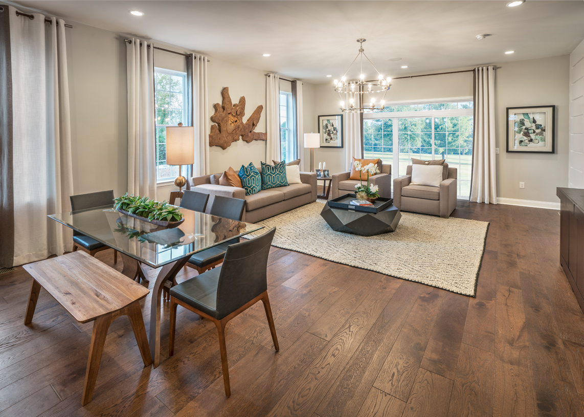 Open floor plans perfect for casual living