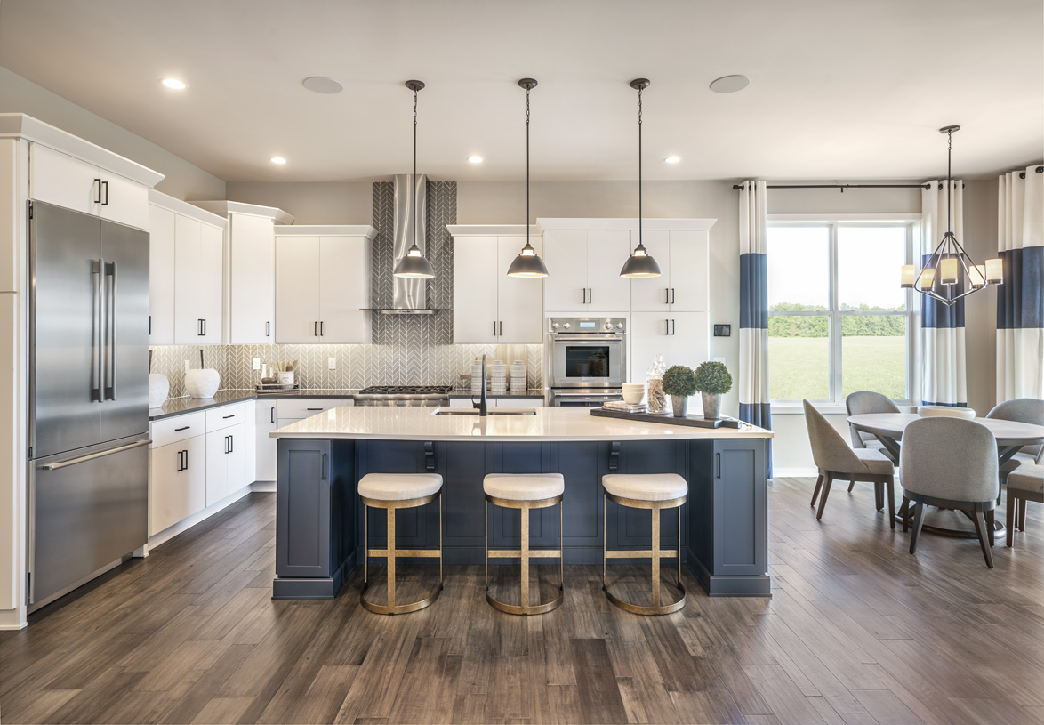 Well-designed kitchens with center islands