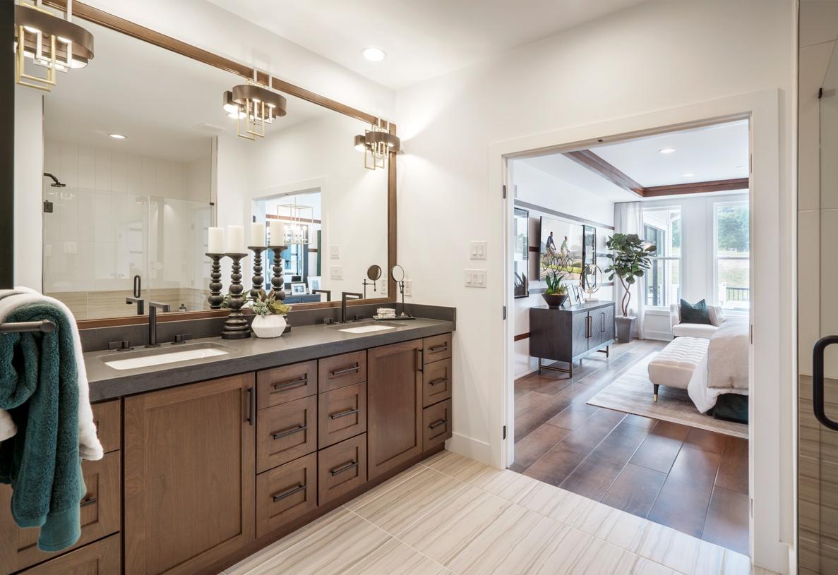 Luxury primary bathrooms
