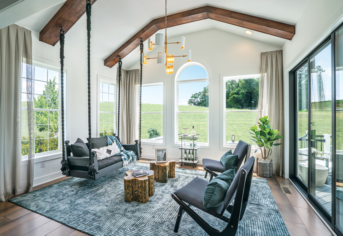 Sunlit rooms provide the perfect spot for relaxing