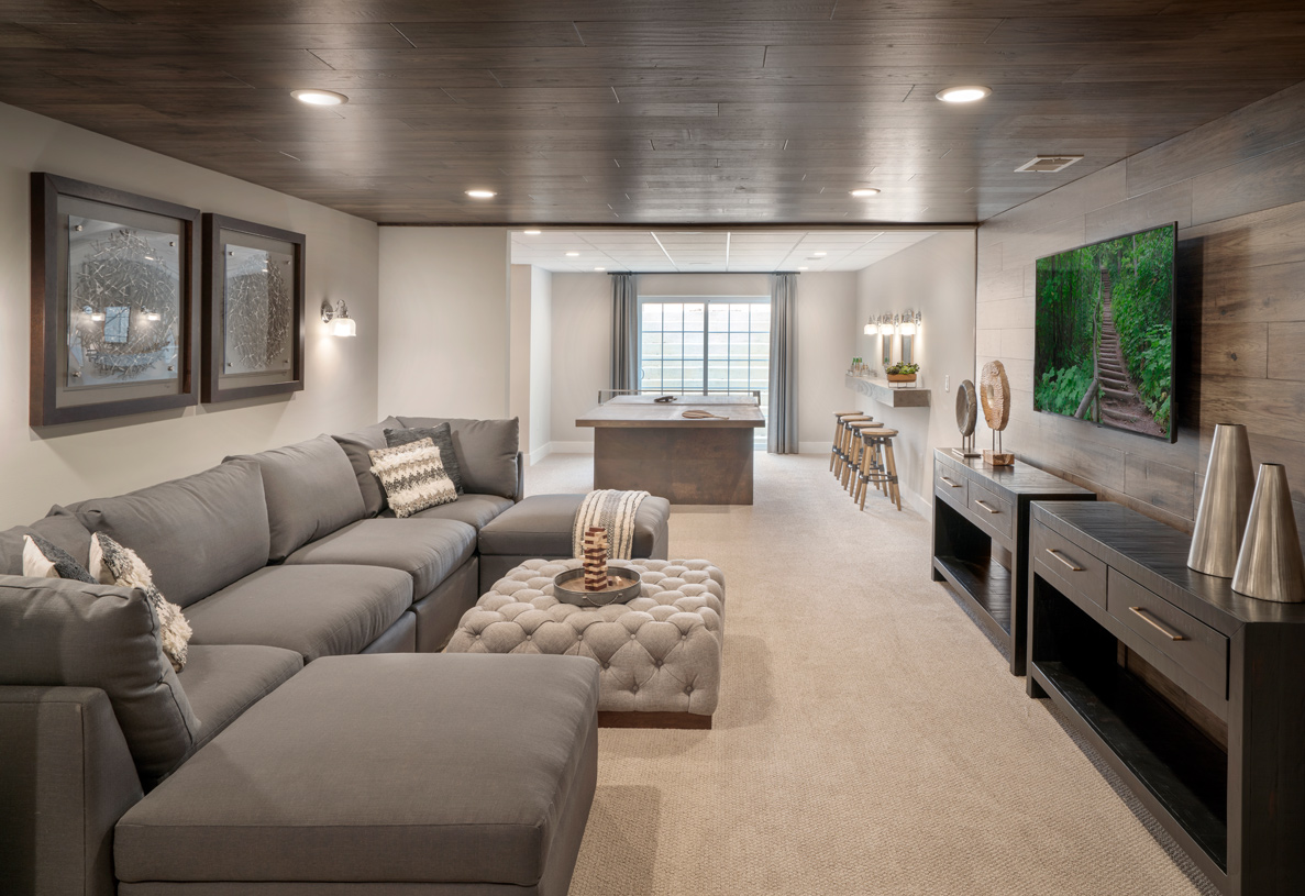 Optional finished basements on select home sites