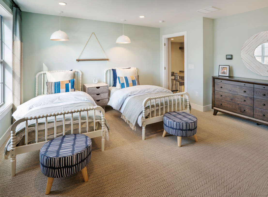 Privately located secondary bedrooms