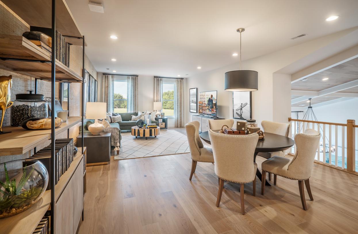 Loft area provides flexible living space