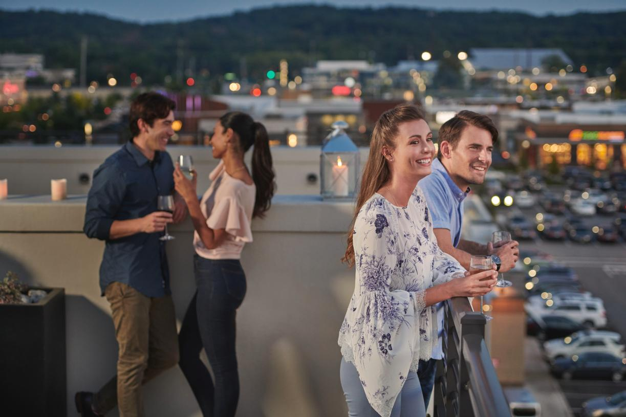 Rooftop terraces provide spectacular views of the area