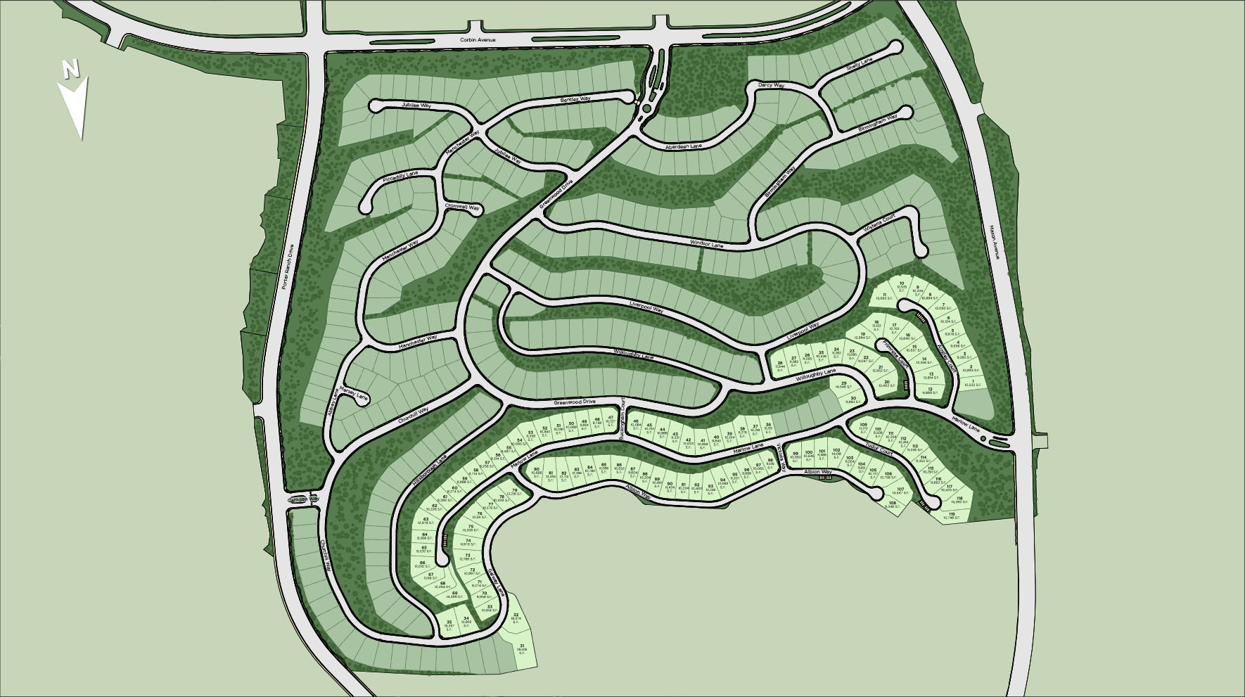 Westcliffe at Porter Ranch - Skyline Collection Site Plan
