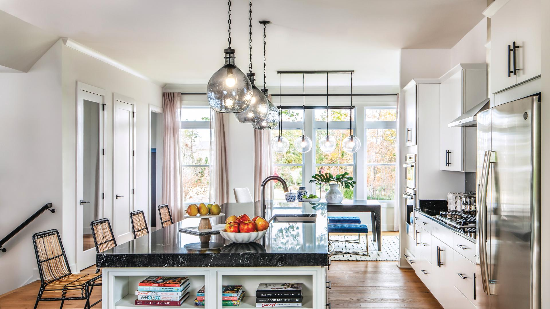 Stylish kitchens with name-brand appliances and granite countertops