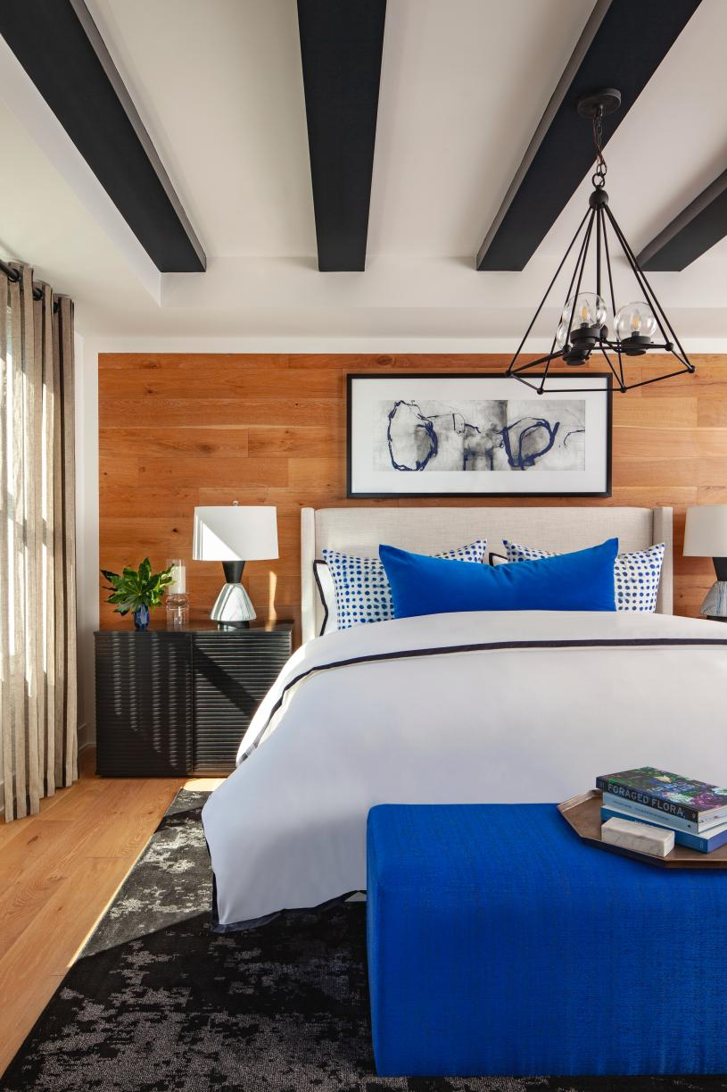 Modern primary bedrooms