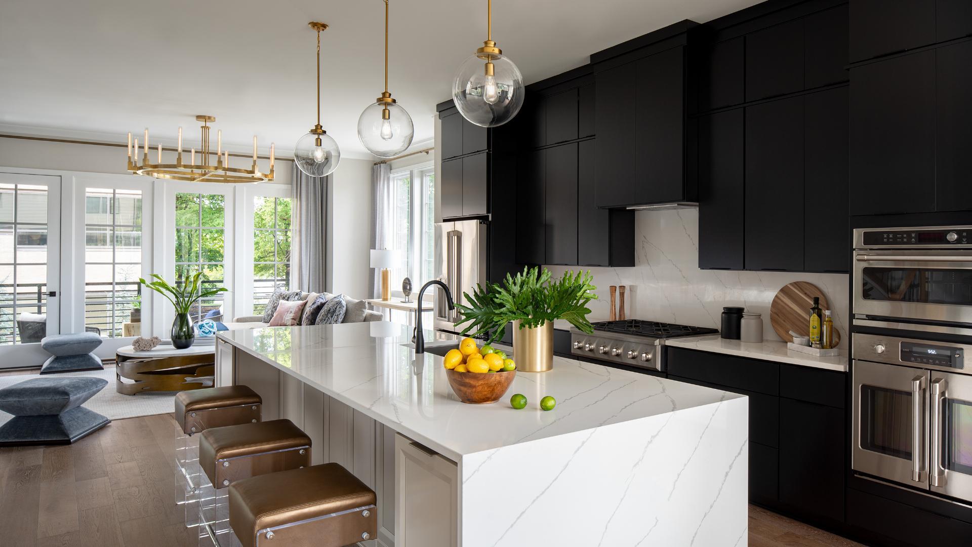 Expansive kitchens