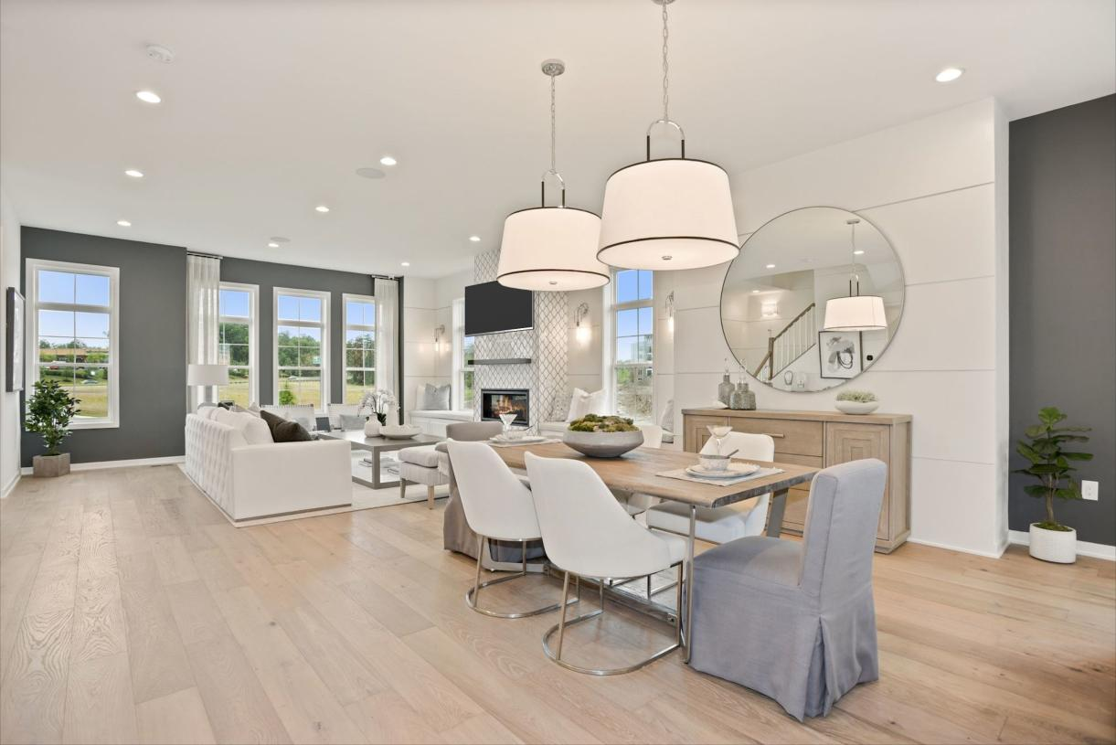 Spacious casual dining area