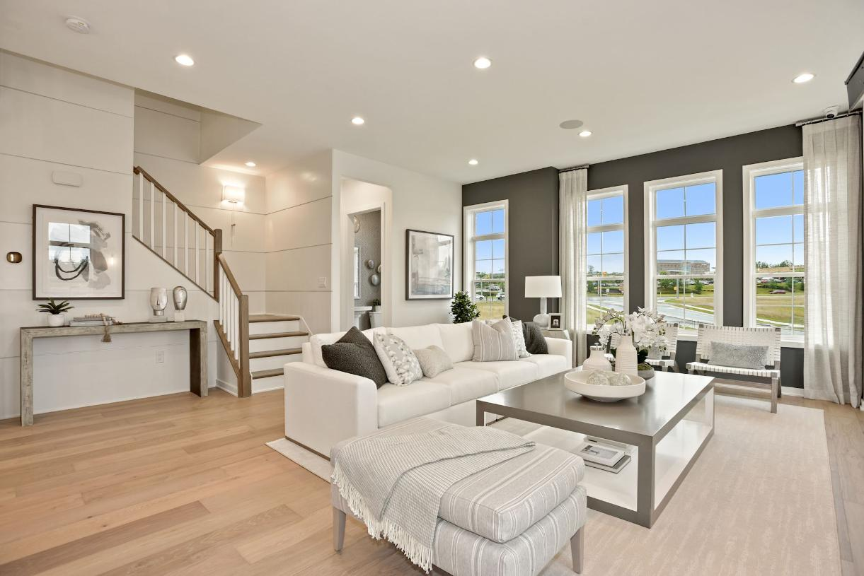 Expansive great room - fireplace shown not included